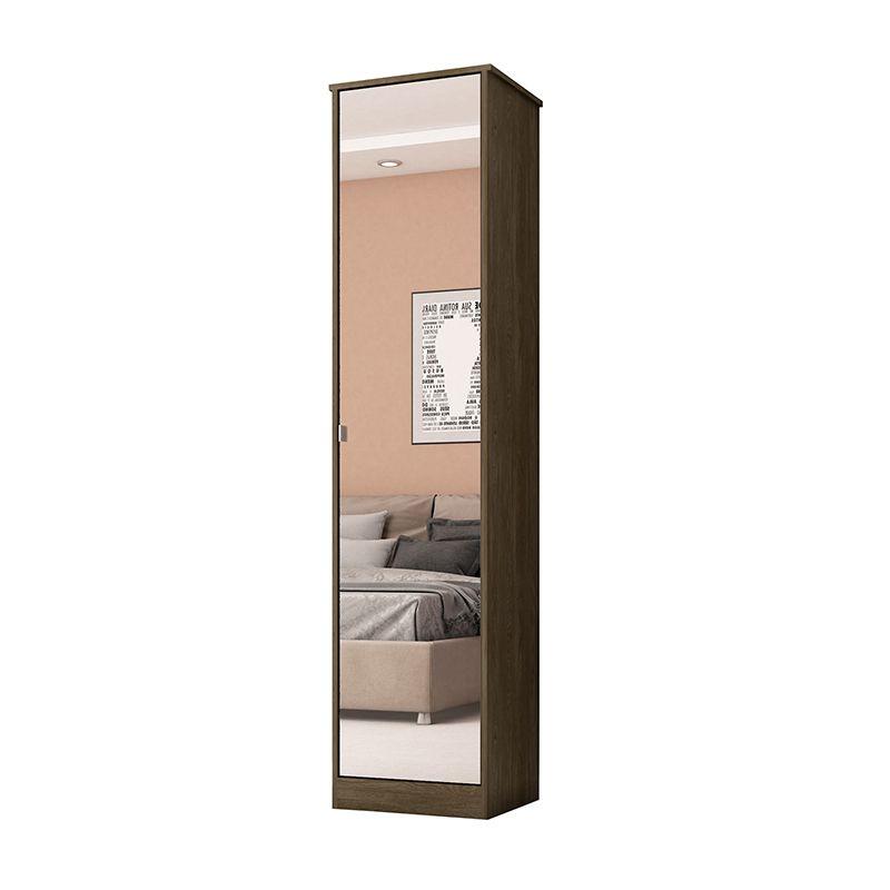 Armário Multiuso com Espelho 1 Porta Reflex II Ébano - Demóbile