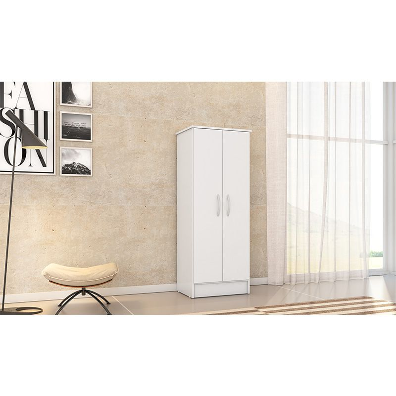 Armário Multiuso Multifuncional com 2 Portas Viena Branco - Demóbile