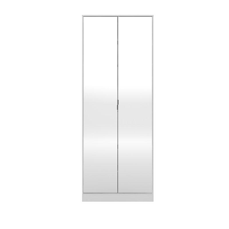Armário Sapateira com Espelho 2 Portas 1 Gaveta Grife Branco - Demóbile