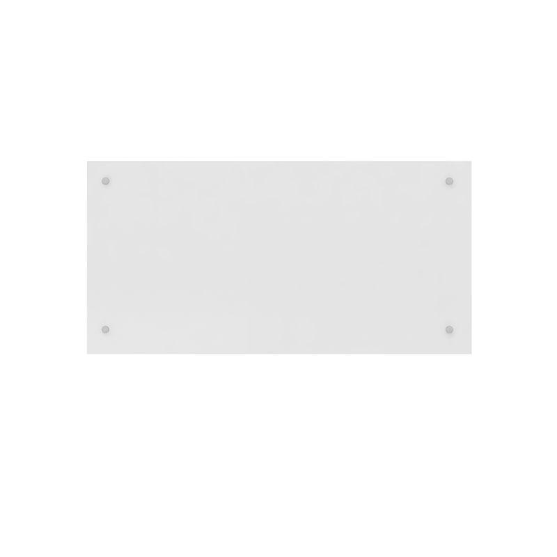 Cabeceira Painel Cama Solteiro Modena Modulado Branco - Demóbile
