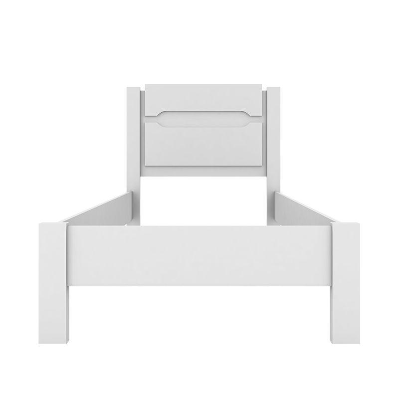 Cama de Solteiro 88cm Riviera Branco - Demóbile