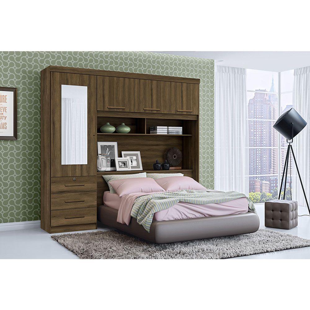Dormitório Duster Casal 4 Portas 3 Gavetas Cedro - Albatroz