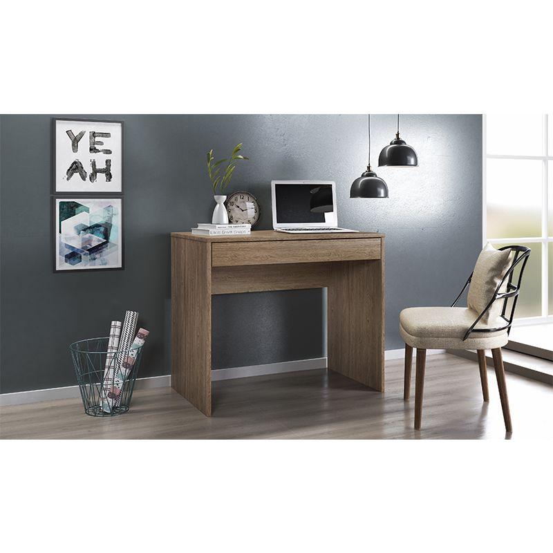 Escrivaninha Mesa de Computador com 1 Gaveta Facility Nogal - Demóbile