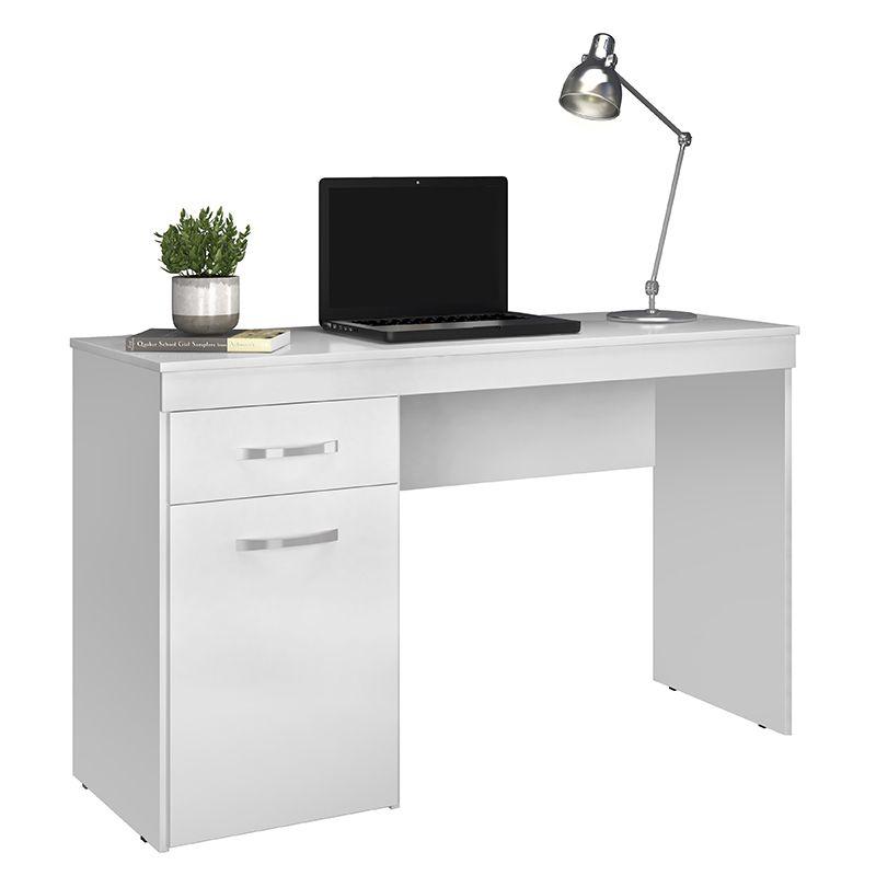 Escrivaninha Mesa de Computador com 1 Gaveta Vitória Branco - Demóbile