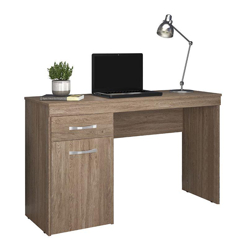Escrivaninha Mesa de Computador com 1 Gaveta Vitória Nogal - Demóbile