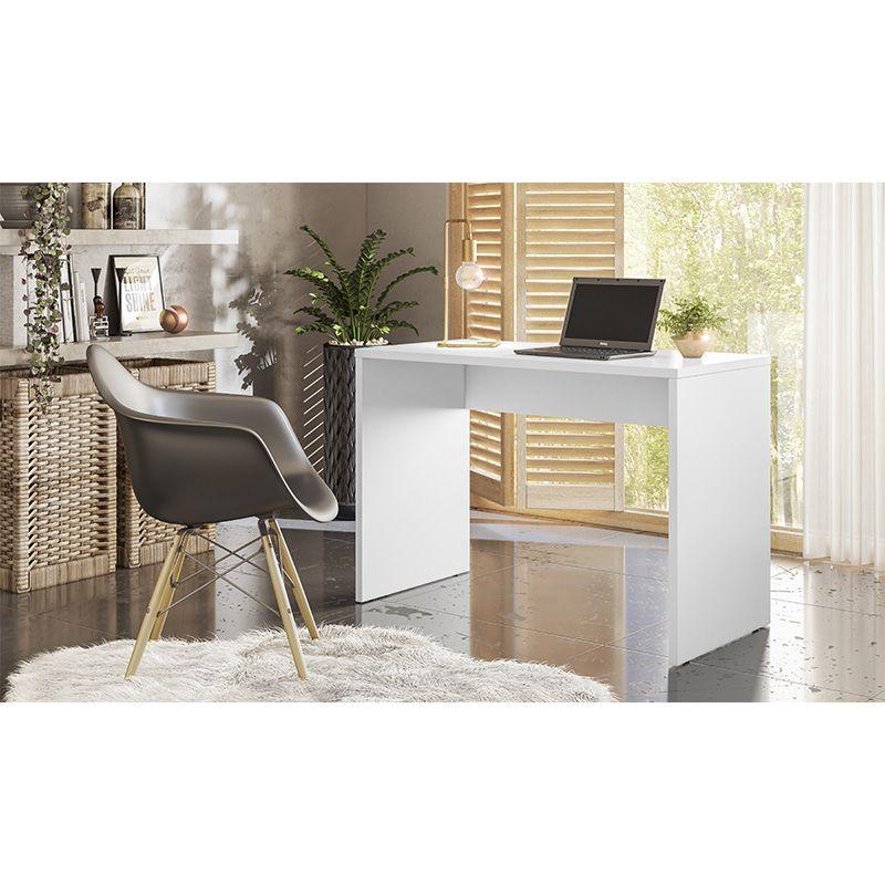 Escrivaninha Mesa de Computador Office Presence Branco - Demóbile