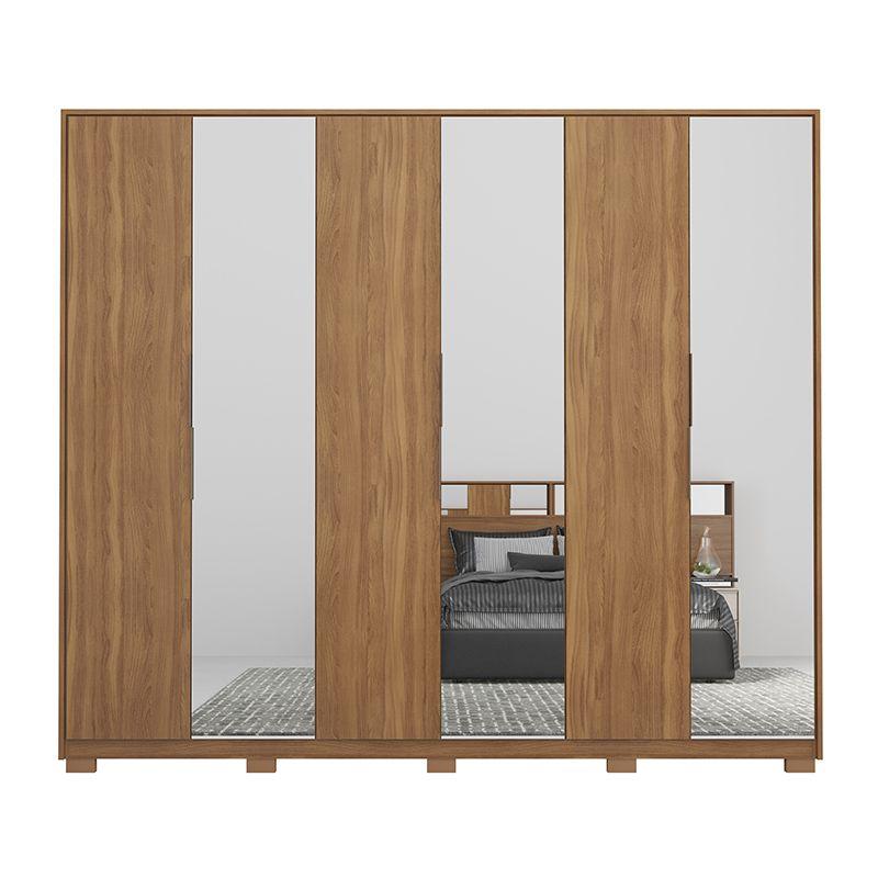 Guarda Roupa Casal Atrice 6 Portas 6 Gavetas 3 Espelhos com Pés Amêndola - Demartêz