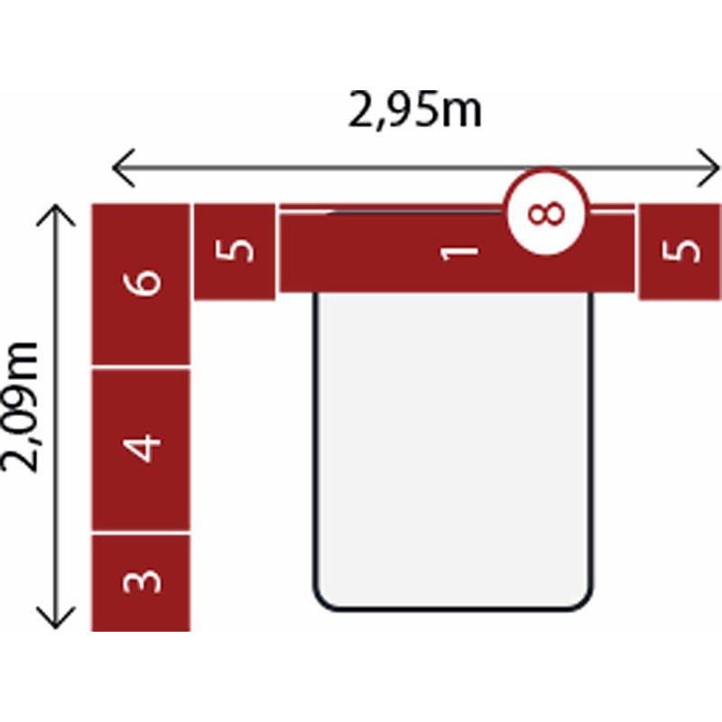 Jogo de Quarto Completo Modulado Casal Modena Composição 01 Nogal - Demóbile