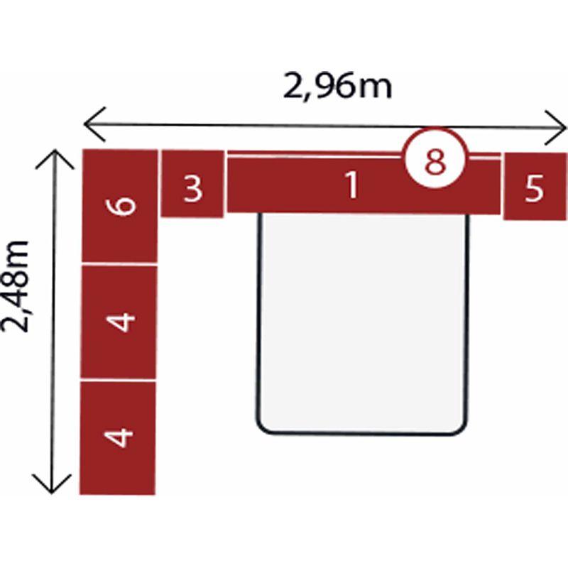 Jogo de Quarto Completo Modulado Casal Modena Composição 10 Nogal - Demóbile