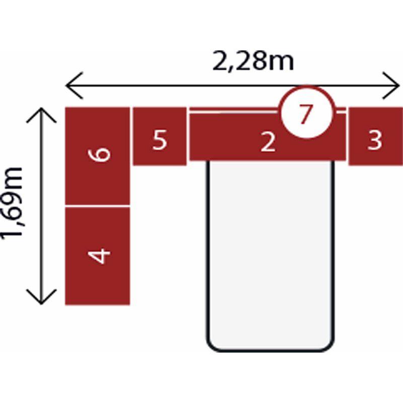 Jogo de Quarto Completo Modulado Solteiro Modena Composição 12 Nogal - Demóbile