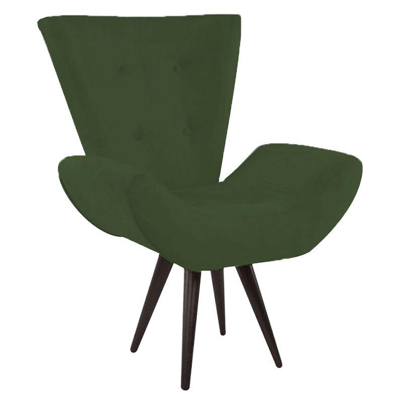 Kit 2 Poltronas Decorativas Bela Pés Palito Suede Verde - Gariani Estofados