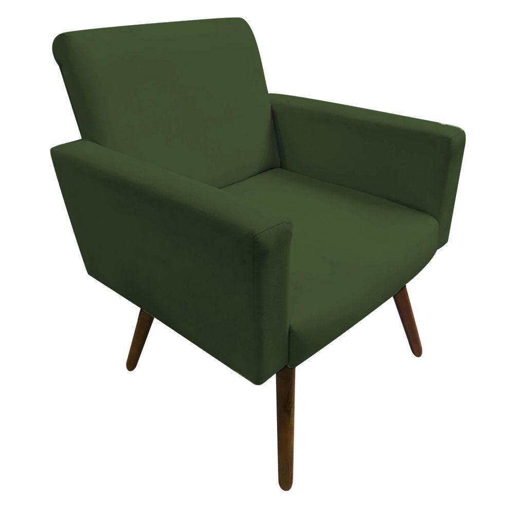 Kit 2 Poltronas Decorativas Nina Pés Palito Suede Verde  - Gariani Estofados