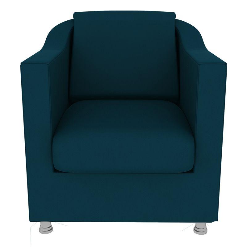 Kit 2 Poltronas Decorativas Tilla Suede Azul Marinho - Gariani Estofados