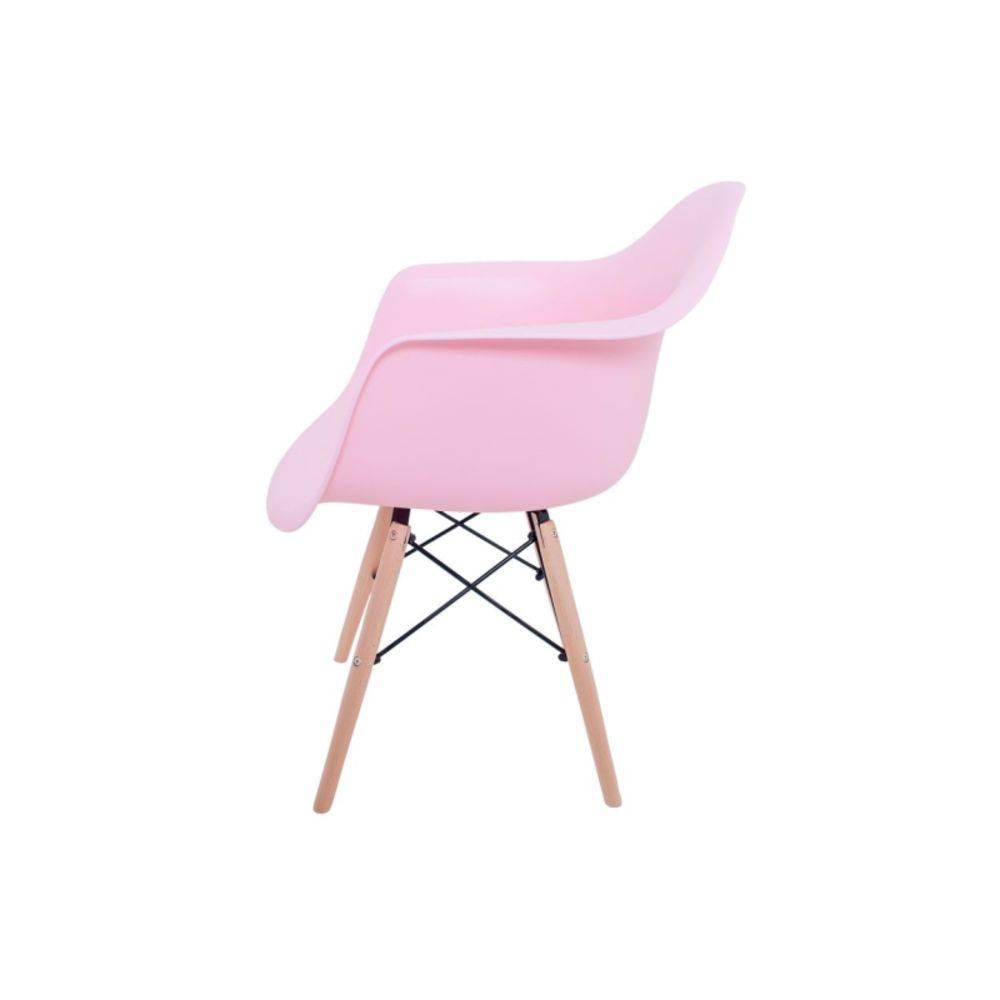 Kit 4 Cadeiras Eiffel Melbourne com Pés Palito em Madeira Rosa - Facthus