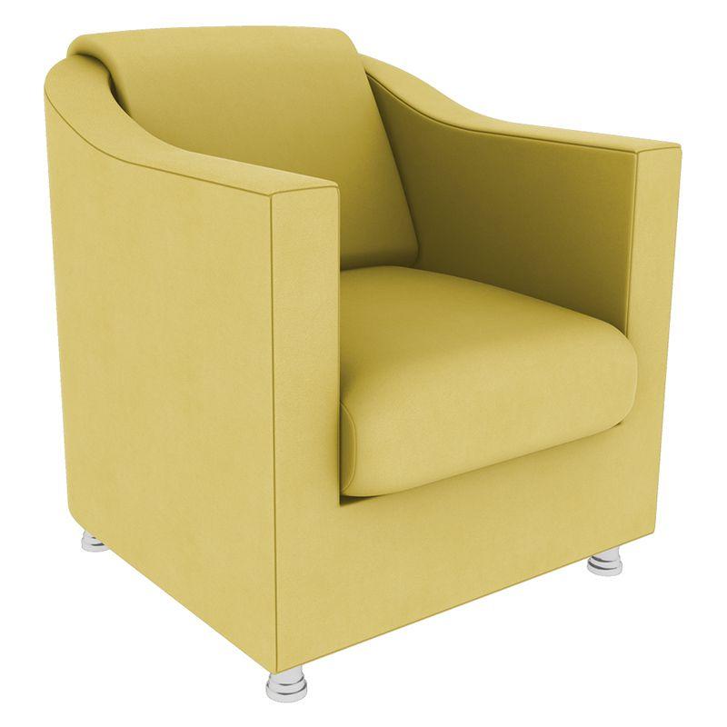 Poltrona Decorativa Tilla Suede Amarelo - Gariani Estofados