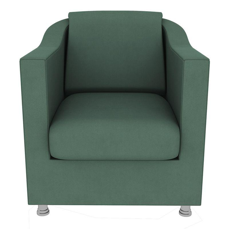 Poltrona Decorativa Tilla Suede Verde - Gariani Estofados