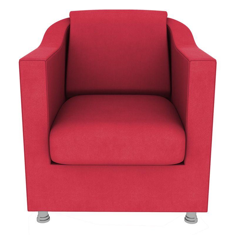 Poltrona Decorativa Tilla Suede Vermelho - Gariani Estofados