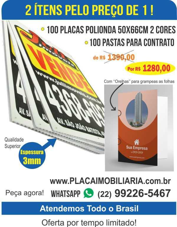 100 Placas 50x66cm + 100 Pastas