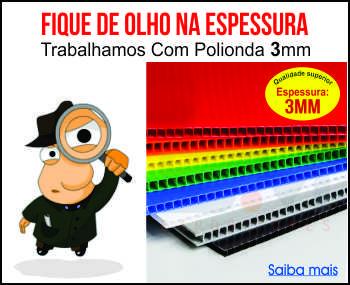 polionda com 3  mm de espessura   -  qualidade superior