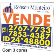 Placa PVC PS 40x50cm com 3 cores