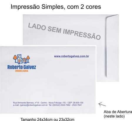 Envelope 24x34cm personalizado com impressão Simples