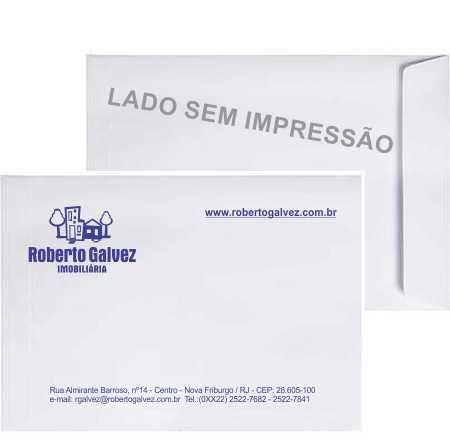 Envelope 24x34cm personalizado com impressão Simples com 1 cor