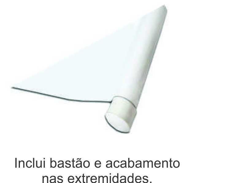 Faixa Plastica 120 x 70cm com  Bastão