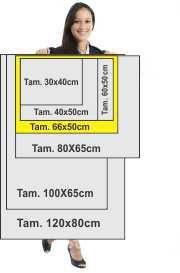 Polionda 66x50cm com 2 cores