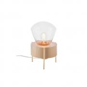 Abajur De Mesa 21cm 1 Lamp Castanho Dourado Madelustre