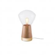 Abajur De Mesa 29cm 1 Lamp Castanho Dourado Madelustre