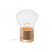 Abajur De Mesa 39cm 1 Lamp Castanho Dourado Madelustre
