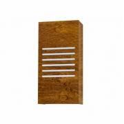 Arandela de Parede Interna Madeira Imbuia Clean 30x15cm 1XE27
