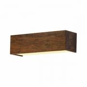 Arandela de Parede Interna Madeira Efeito Clean 15x40cm 2xE27