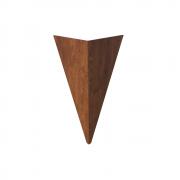 Arandela de Parede Interna Madeira Facetado 40x25cm 1xE27
