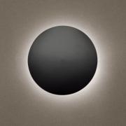 Arandela Eclipse Led 18w Branco Quente 25cm Preta Madelustre