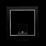 Arandela Quadrada LED 8w 2700k 40x40cm em Madeira