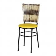 Cadeira Para Cozinha Preta Hawai Cappuccino Premium