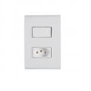 Conjunto Interruptor Simples + Tomada 2P+T 10A 4x2 Tramontina Liz