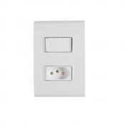 Conjunto Interruptor Simples + Tomada 2P+T 20A 4x2 Tramontina Liz