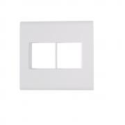 Espelho Placa 4x4 4 Postos Com Suporte Tramontina Liz