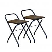 Conjunto 2 Cadeiras Dobrável em Madeira Imbuia