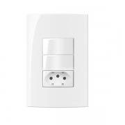 Conjunto 2 Interruptor Simples + Tomada 10A 4x2 Sleek MarGirius