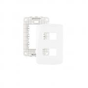 Espelho Placa 4x2 2 Postos Separados Com Suporte B3 MarGirius