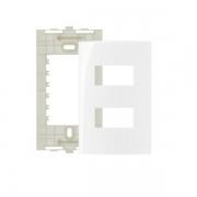 Espelho Placa 4x2 2 Postos Separados Com Suporte Sleek MarGirius