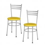 Jogo 2 Cadeiras Para Cozinha Epoxi Cinza