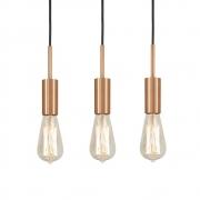 Kit 3 Pendente Infinite Cobre + Lâmpadas LED 4w ST64 Quente Bivolt