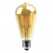 Lâmpada Filamento Led 4w ST64 Vintage Branco Quente Bivolt