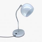Luminária de Mesa Branca 40cm E27 Bola Alumínio