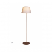 Luminária de Chão Slim 163cm Castanho Cúpula Algodão Cru Madelustre
