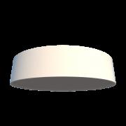 Luminária Plafon Cilíndrico 50x12cm em Acrílico e Madeira Branco ou Preto